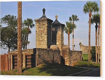 The Old City Gates Wood Print by David Lee Thompson