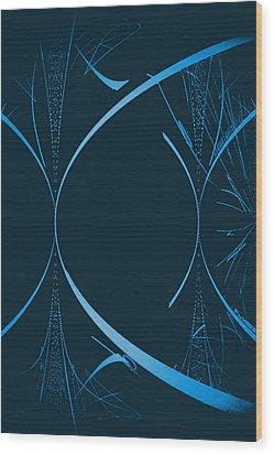 35 In Blue Wood Print