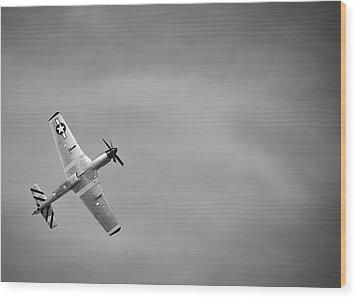 P 51 Mustang Wood Print