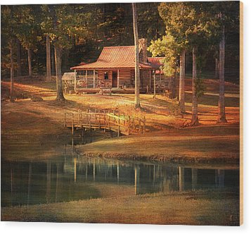 A Place To Dream Wood Print by Jai Johnson