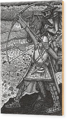 Abbadon Takes Aim Wood Print by Al Goldfarb