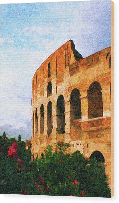 Afternoon In Rome Wood Print by Rob Tullis