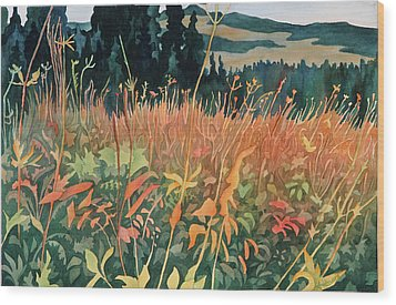 Alpine Autumn Wood Print by Anne Havard