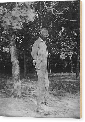 Anonymous African American Lynching Wood Print by Everett