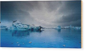 Antarctic Iceberg Wood Print by Michael Leggero