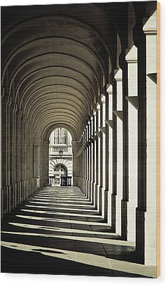 Arches Of Grand Theatre Wood Print by Mickaël.G