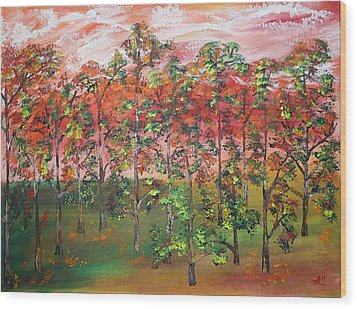 Autumn Begins Wood Print by James Bryron Love