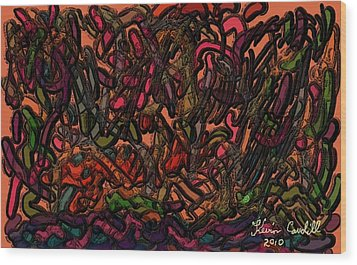 Wood Print featuring the painting Autumn by Kevin Caudill