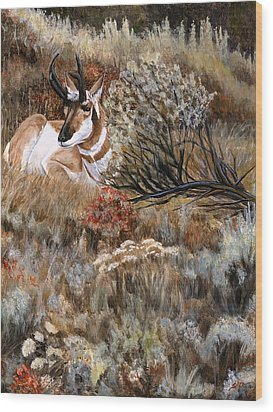 Wood Print featuring the painting Autumn Splendor by Sheri Gordon