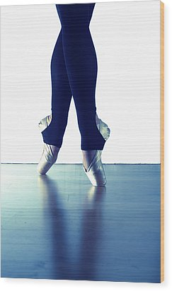 Ballet Feet 1 Wood Print by Scott Sawyer