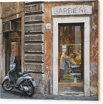 Barbiere Wood Print by Stefan Nielsen