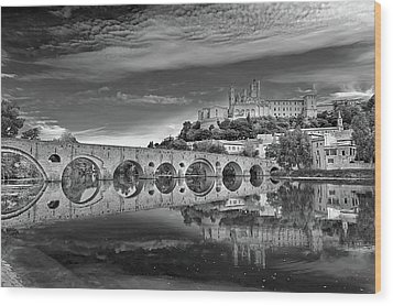 Beziers Cathedral Wood Print by Photograph by Paul Atkinson