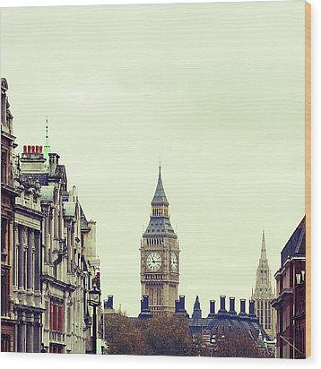 Big Ben As Seen From Trafalgar Square, London Wood Print by Image - Natasha Maiolo