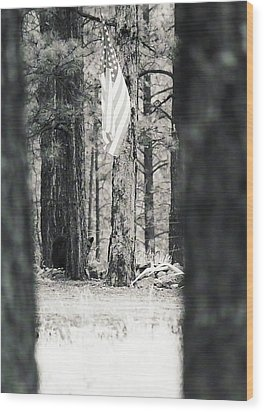 Wood Print featuring the photograph Black Bear Pledge  by Juls Adams