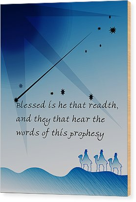 Blessed Is He Wood Print by Amy Williams