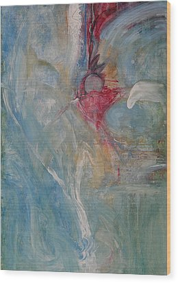 Wood Print featuring the painting Bloom by John Fish