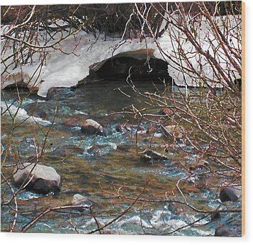 Wood Print featuring the photograph Blue Water Creek by Tammy Sutherland
