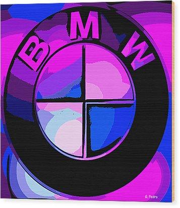 BMW Wood Print by George Pedro