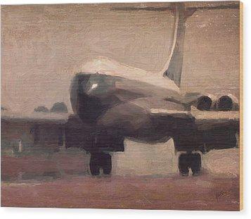Boac Vc10 Landing 5 Wood Print