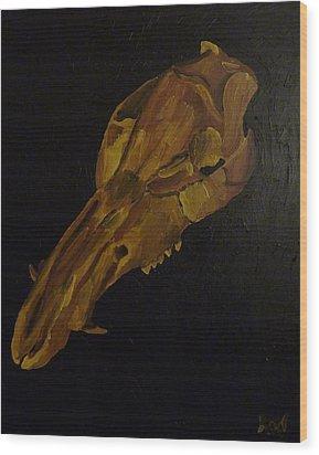 Boar's Skull No. 3 Wood Print