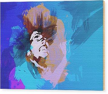 Bob Marley 3 Wood Print by Naxart Studio