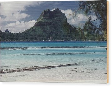 Wood Print featuring the photograph Bora Bora by Mary-Lee Sanders