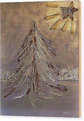 Bright Star For Light Wood Print by Marsha Heiken