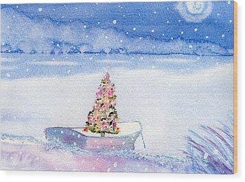 Cape Cod Christmas Tree Wood Print by Joseph Gallant