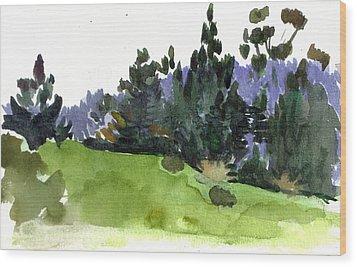 Carmel  California Wood Print by Marianne  Gargour