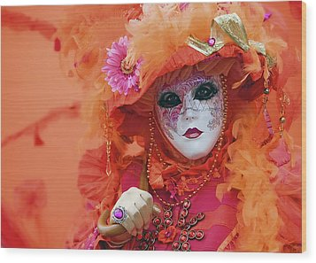 Wood Print featuring the photograph Carnival In Orange by Stefan Nielsen