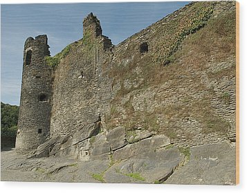 Wood Print featuring the photograph Castle - Ardennes - Belgium by Urft Valley Art