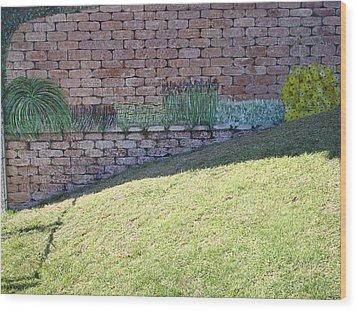 Cement Garden Wall Wood Print