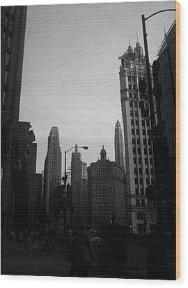 Chicago 4 Wood Print