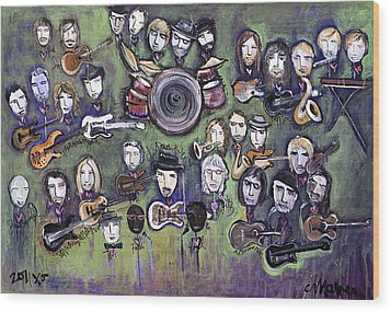 Chris Daniels And Friends Wood Print by Laurie Maves ART