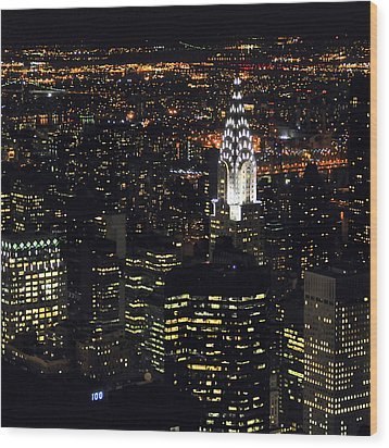 Chrysler Building At New York City Wood Print by Philippe Brunel