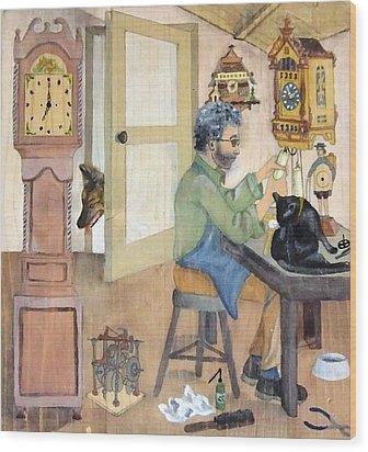 Clockmaker 1 Wood Print by Annemeet Hasidi- van der Leij