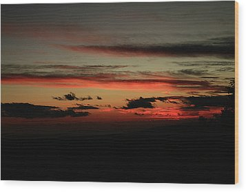Clouds At Sunset Wood Print by Gilbert Artiaga