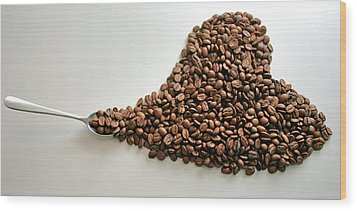 Coffee Lover Wood Print by Stephen Mitchell