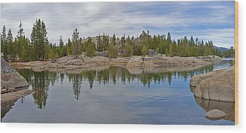 Coming Storm Lake Utica Sierra Nevada Landscape Panorama Larry Darnell Wood Print by Larry Darnell