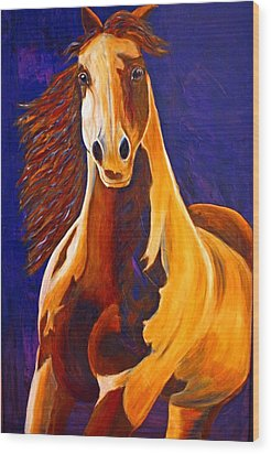Wood Print featuring the painting Contemporary Horse Painting Painted Sensation by Jennifer Godshalk