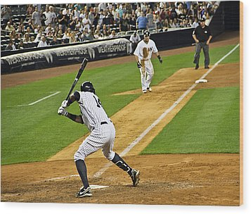Curtis Granderson Wood Print by Andrew  Cragin