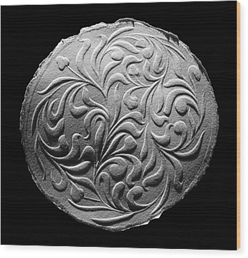 Wood Print featuring the relief Decorative Art by Suhas Tavkar