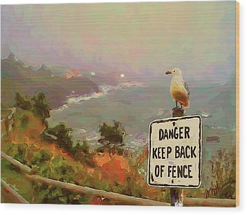Depoe Bay Security Guard Wood Print by Methune Hively