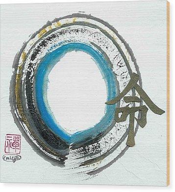 Destiny In Zen Wood Print by Ellen Miffitt