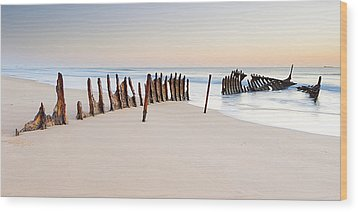 Dicky Beach Wood Print by Visual Clarity Photography