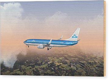 Wood Print featuring the digital art Dirty 737ng 28.8x18 by Mike Ray