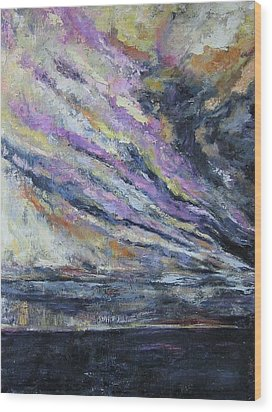 Wood Print featuring the painting Dispelling Storm by Debora Cardaci