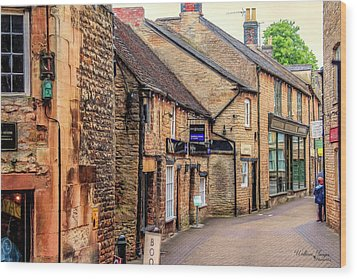 Wood Print featuring the photograph Downtown In The Cotswolds by Wallaroo Images