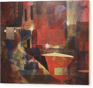 Dumpster - Sold Wood Print by Stephen Roberson