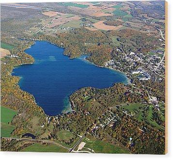 E-006 Elkhart Lake Wisconsin Fall Lake Wood Print